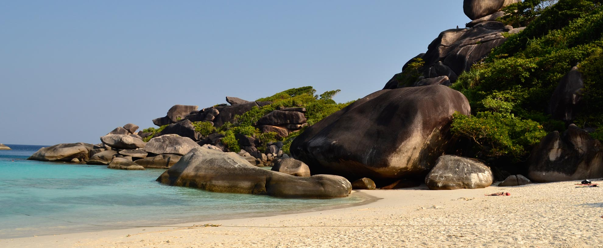 Sandy beach at Donald Duck bay in the Similan Islands