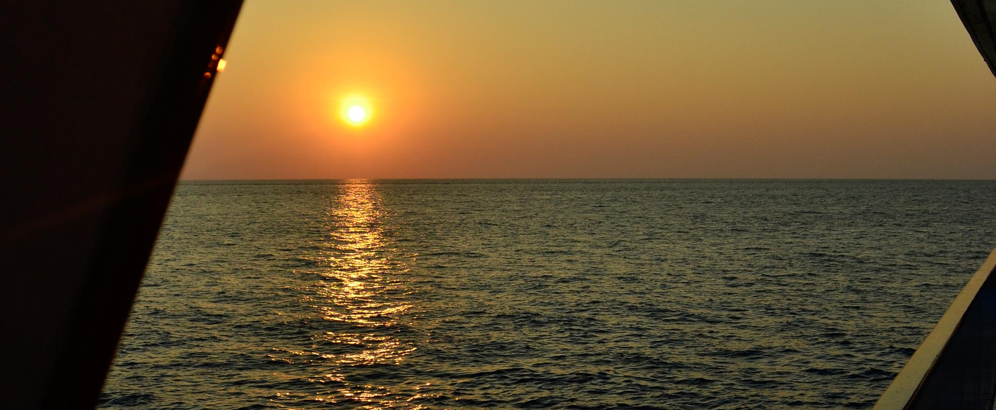 Southern Andaman sunset from the Scuba Explorer liveaboard