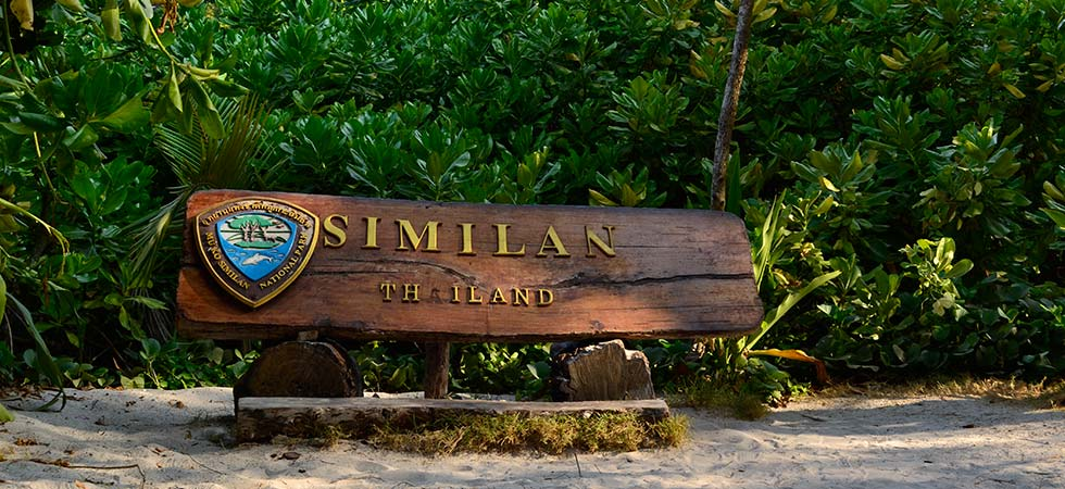 Similan Islands national marine park sign