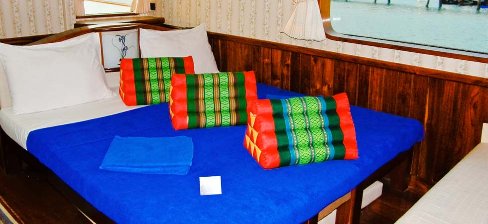 Inside look at the luxury cabin on the Scuba Explorer
