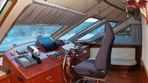 Wheel house on te Scuba Explorer Phuket luxury liveaboard