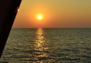 Sunset diving aboard the Scuba Explorer liveaboard