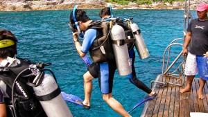 Dive deck on the Scuba Explorer Phuket luxury liveaboard