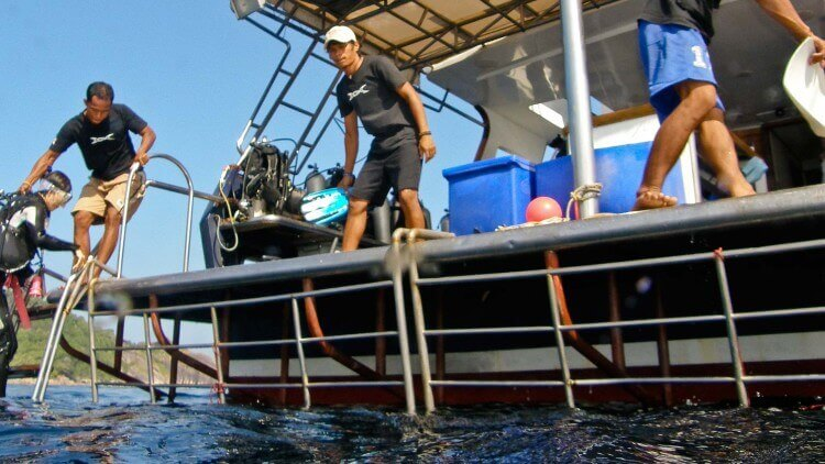 Dive deck on the Scuba Explorer Phuket luxury liveaboard